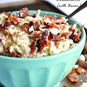 Blue Cheese Coleslaw {with bacon}