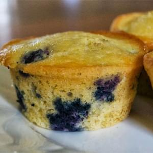 Blueberry Cornmeal Muffins - makes 12 muffins