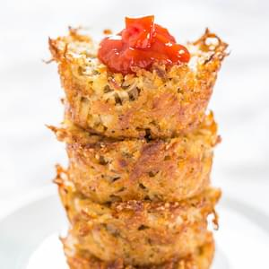 Baked Parmesan Hash Brown Cups