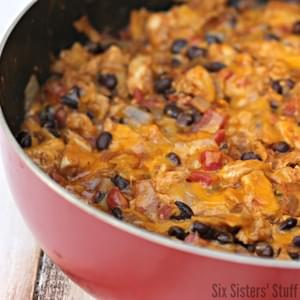 Chicken and Black Bean Enchilada Skillet