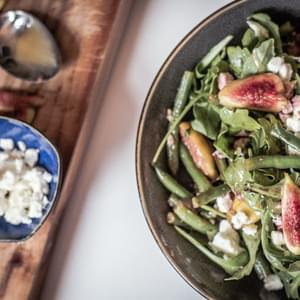 Fig And Feta Salad With Arugula And Balsamic