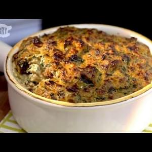 Warm Vegan Spinach-Artichoke Dip