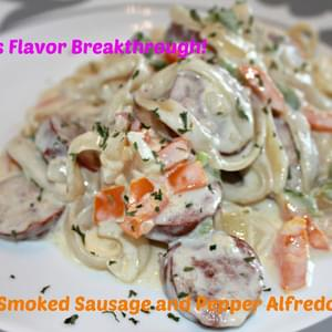 Smoked Sausage and Pepper Alfredo!