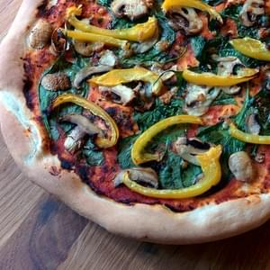 Mushroom and Pepper Pizza