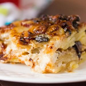 Bacon and Mushroom Potato Gratin