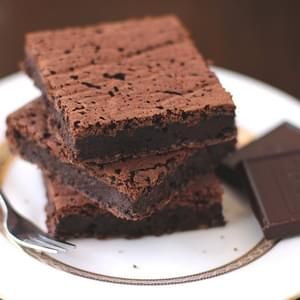 Healthy Fudgy Black Bean Brownies (sugar free, low fat, gluten free, vegan)