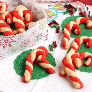 Candy Cane Shortbread Cookies
