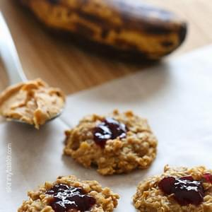 PB + J Healthy Oatmeal Cookies