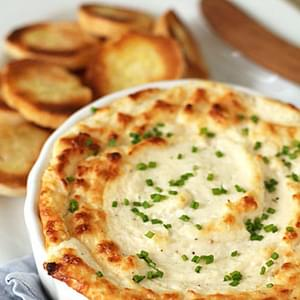 Hot Onion and Cheese Soufflé Dip