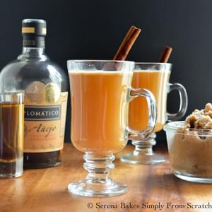 Hot Apple Cider Buttered Rum Cocktails