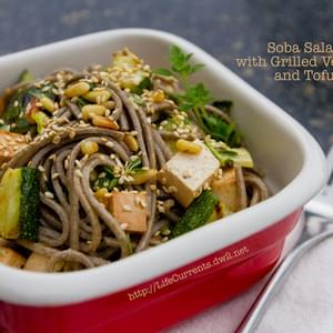 Soba Salad with Grilled Veggies and Tofu