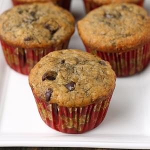 Banana Espresso Chocolate Chip Muffins