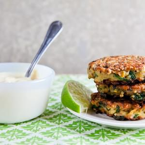 Sweet Potato and Quinoa Patties with Curry Sauce