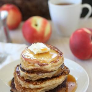 Greek Yogurt Peach Pancakes {made with Chobani!}