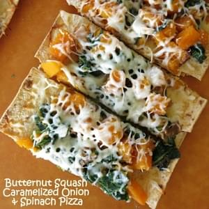 Pizza with Butternut Squash and Caramelized Onions