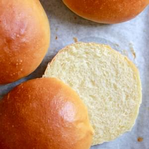 Light Brioche Hamburger Buns