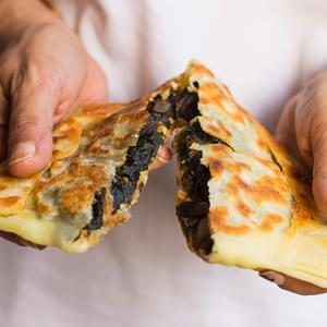 Turkish Gozleme with Ricotta & Swiss Chard