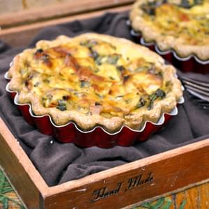 Sun-Dried Tomato and Spinach Quiche with Olive Oil Crust