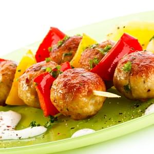 Teriyaki Chicken Meatball Kebabs
