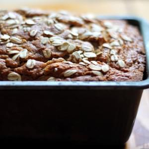 Whole Wheat Oatmeal Applesauce Banana Bread