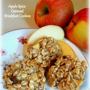 Apple Spice Oatmeal Breakfast Cookies