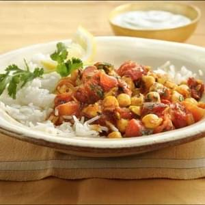 Chickpea and Tomato Curry with Rice
