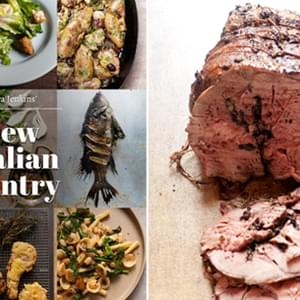 Roasted Leg of Lamb with Black Olives