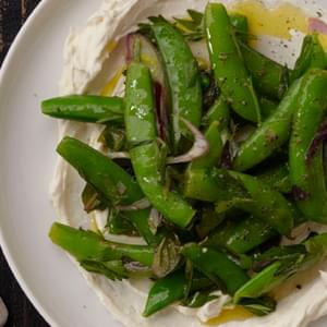 Sugar Snap Peas with Ricotta, Mint and Lemon