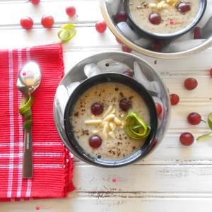 Zucchini Gazpacho with Grapes
