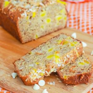 White Chocolate Mango Banana Bread