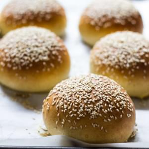 Light Brioche Hamburger Buns {whole Wheat}