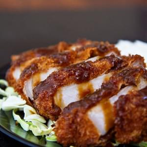 Miso Katsu (Breaded Pork Cutlet with Red Miso Sauce)