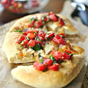 Grilled Chicken with Tomato Basil Bruschetta Pizza