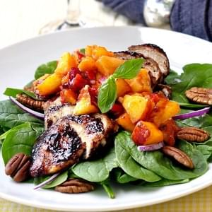 Peach and Basil Salsa