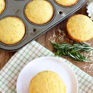 Easy Corn Muffins Jazzed Up With Fresh Rosemary And Cheddar Cheese!