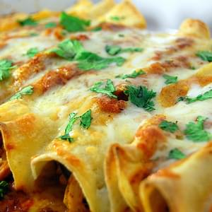 Chicken Enchiladas with Red Chile Sauce