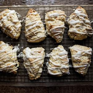 Apricot and Ginger Scones with Ginger Glaze