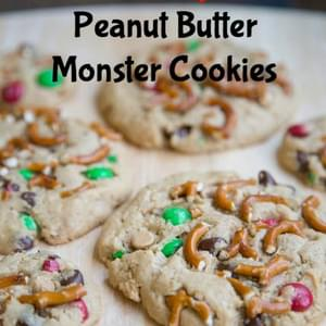 Holiday Peanut Butter Monster Cookies