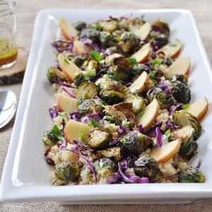 Roasted Brussels Sprout, Apple, and Quinoa Salad