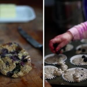 BLUEBERRY-BANANA MUFFINS WITH SPELT FLOUR