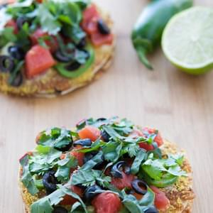Vegan Mini Mexican Pizza