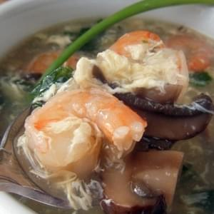 Shrimp & Veggie Egg Drop Soup- Quick & Easy!