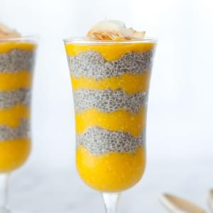 Tropical Coconut Mango Chia Pudding