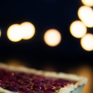 Salted Caramel Cranberry Pie