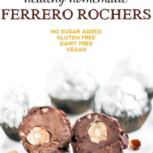 Healthy Homemade Ferrero Rochers (low sugar, gluten free, vegan)