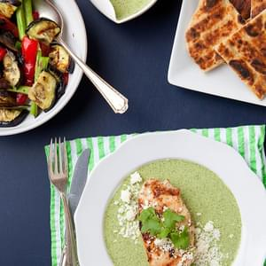 Grilled Chicken with Garlicky Green Sauce