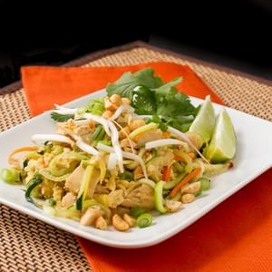 Chicken Pad Thai with Zucchini Noodles