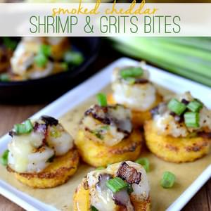 Smoked Cheddar Shrimp and Grits Bites