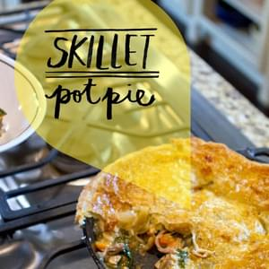 Chicken and Sweet Potato Skillet Pot Pie