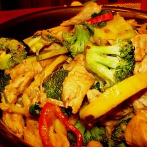 Lemon-Ginger Chicken and Broccoli
